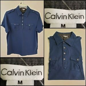 Calvin Klein Men Short Sleeve Polo Shirt Medium